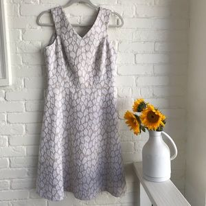 Calvin Klein cream & tan mid length dress size 6